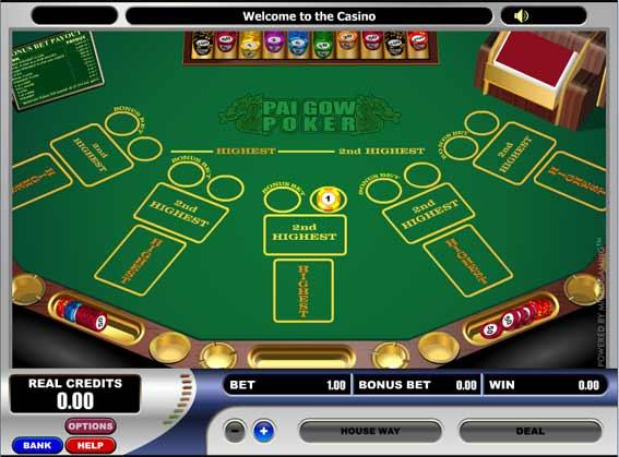 Les règles du Poker Pai Gow