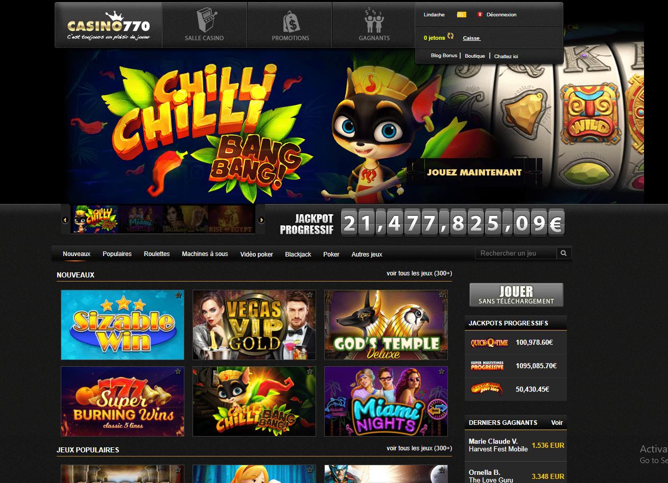plateforme jeux en ligne casino770