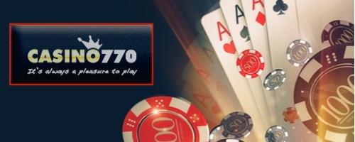 logo casino770 cadre rouge sur fond noir