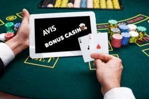 Avis Bonus Casino - Mars Casino Revue