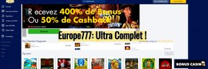Europe777 revue - Bonus Casino