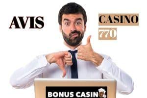Casino770 Avis - bonus Casino