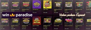 WinParadise Casino -video poker - Bonus Casino