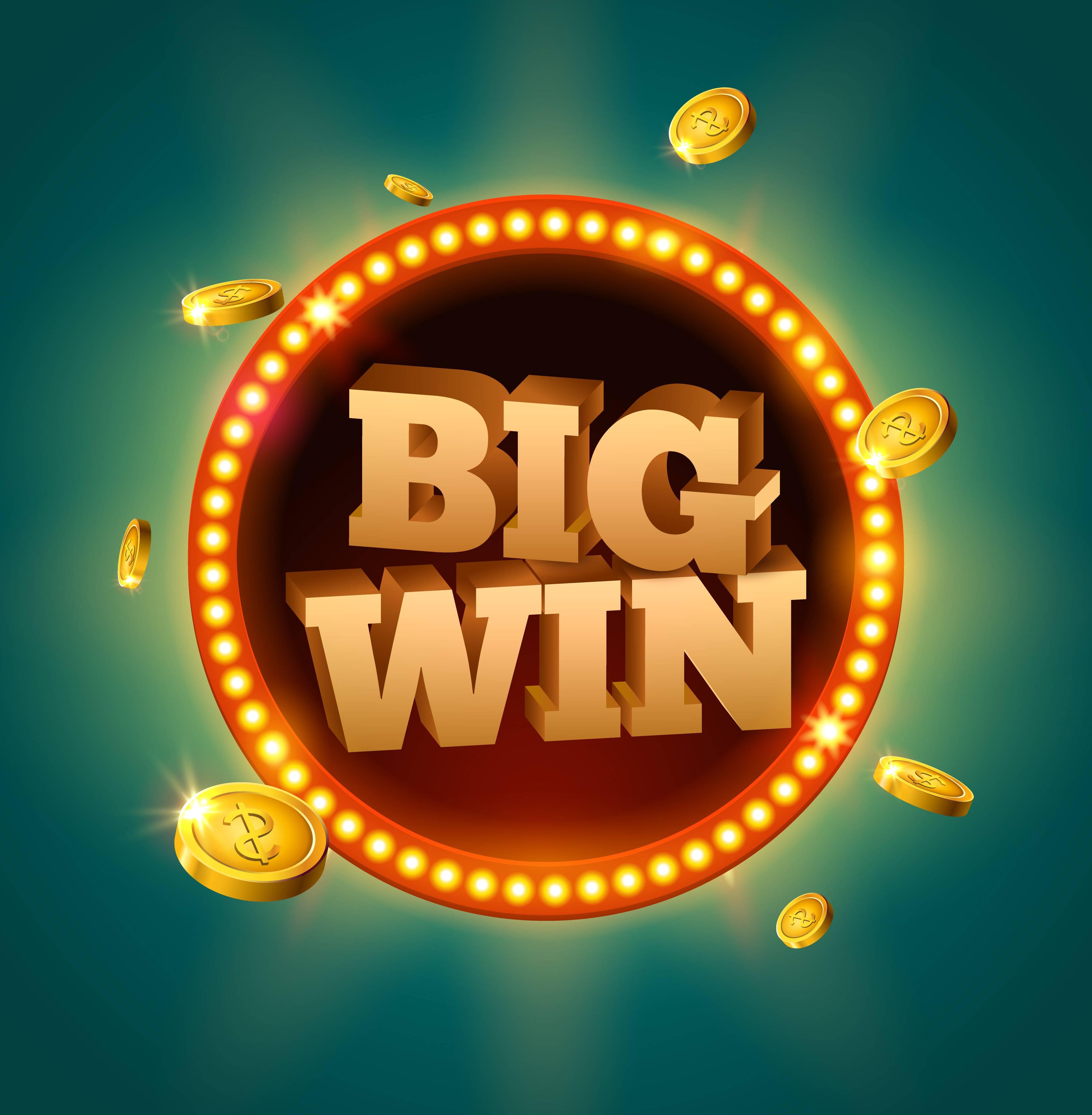 casinos en ligne bonus sans depot, Big Win sur fond vert