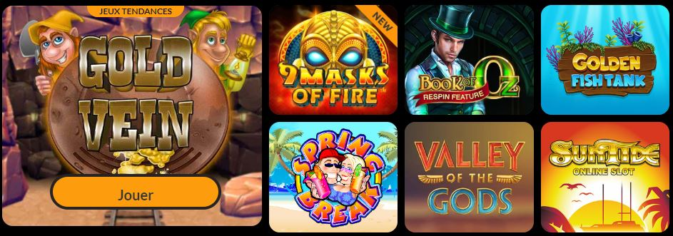 ludotheque de jeux spin million casino