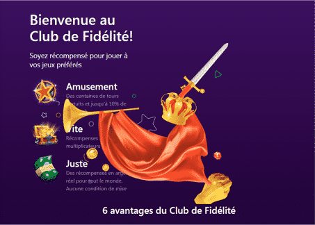 Club de fidelite sur bitcasino io