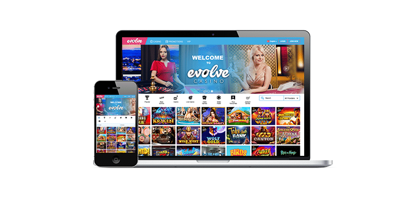 Evolve casino sur mobile