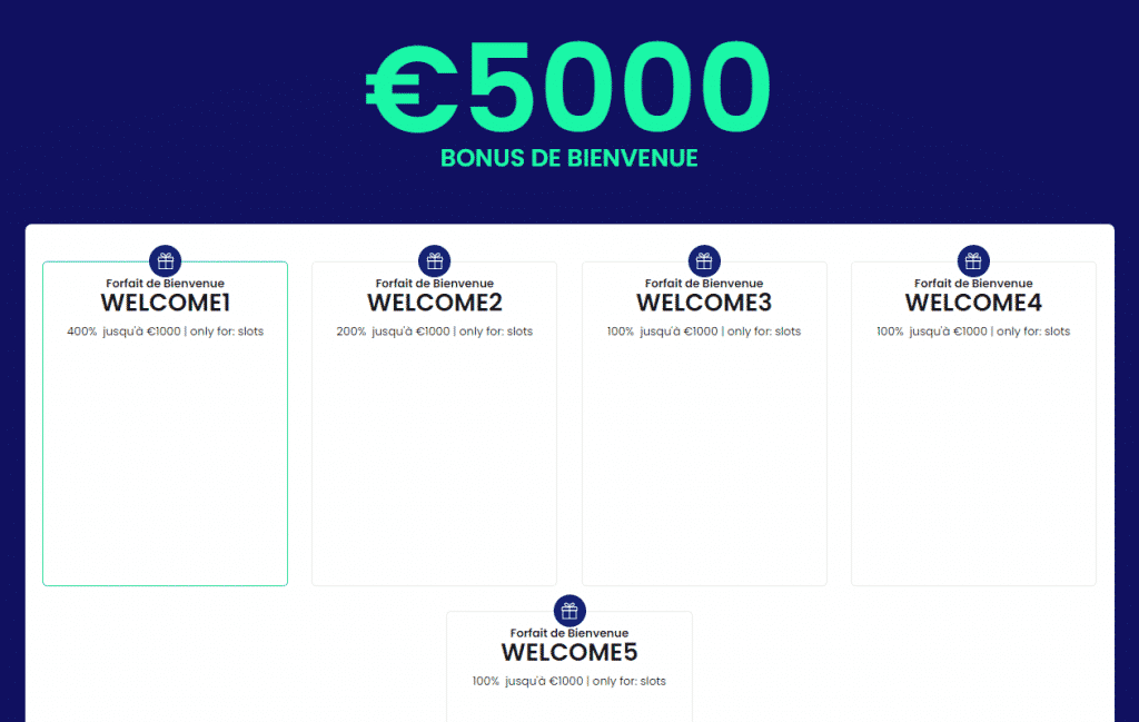 5000 euros bonus de bienvenue welcome casinobtc.bet