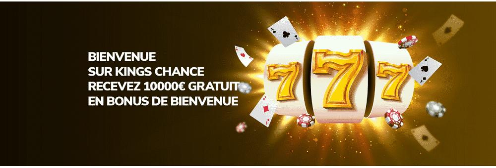 bonus bienvenue kings chance casino