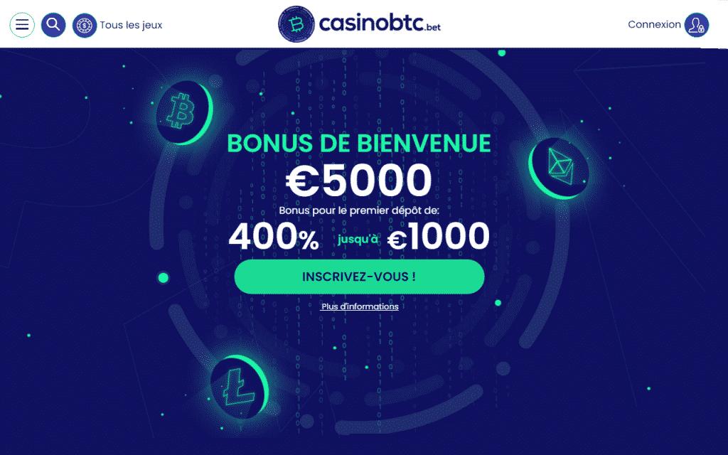 bonus de bienvenue 5000 euros
