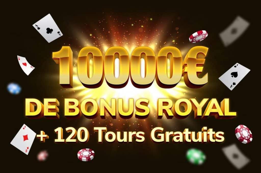 kings chance 10000 euros bonus royal