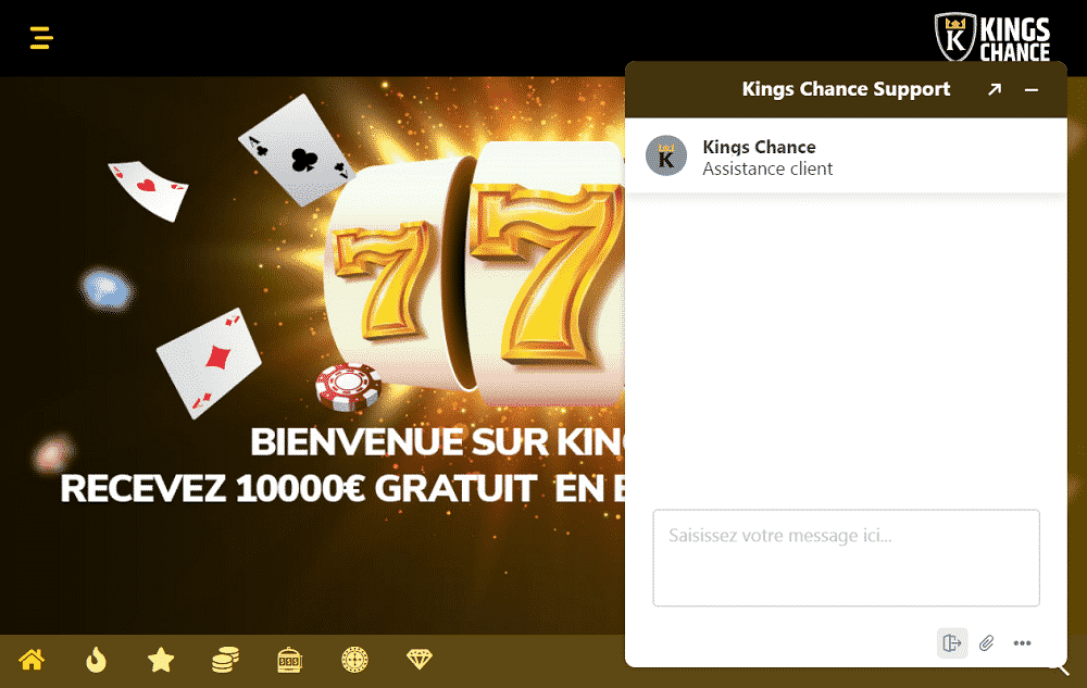 kings chance support chat