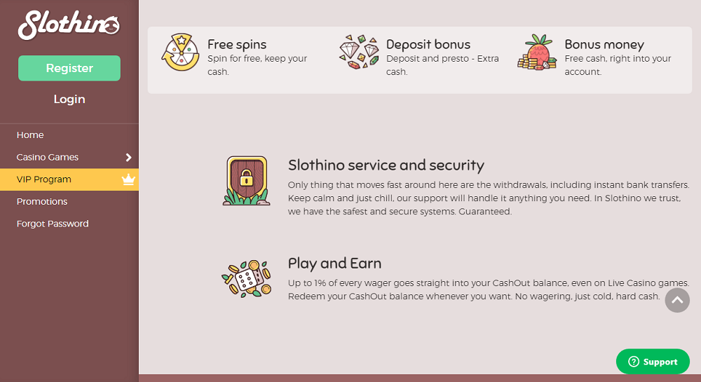 sécurité et transactions chez Slothino Casino