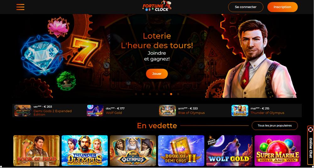 Fortune Clock Casino Loterie