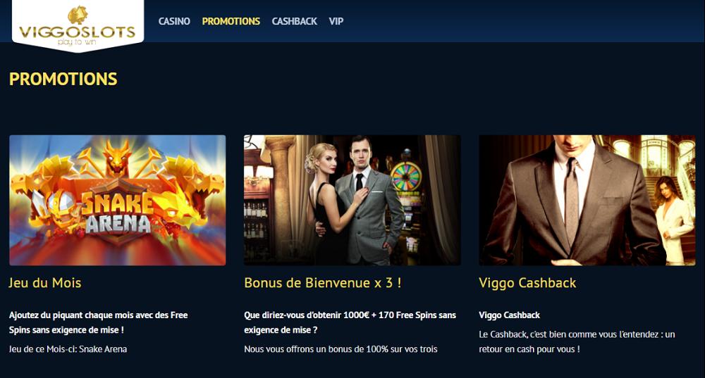 Promotions récurrentes sur ViggoSlots casino