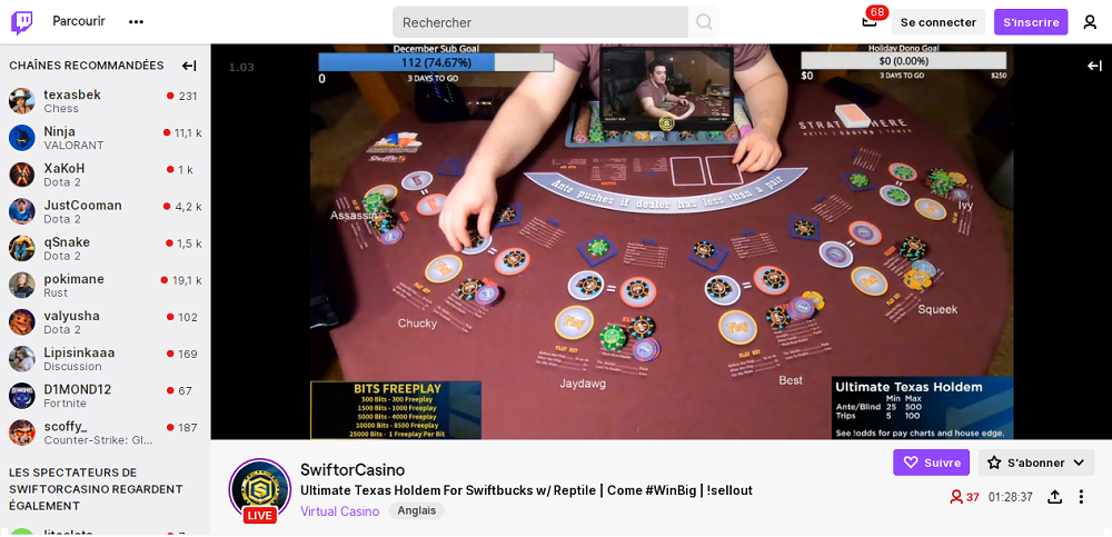 Twitch et le casino streaming