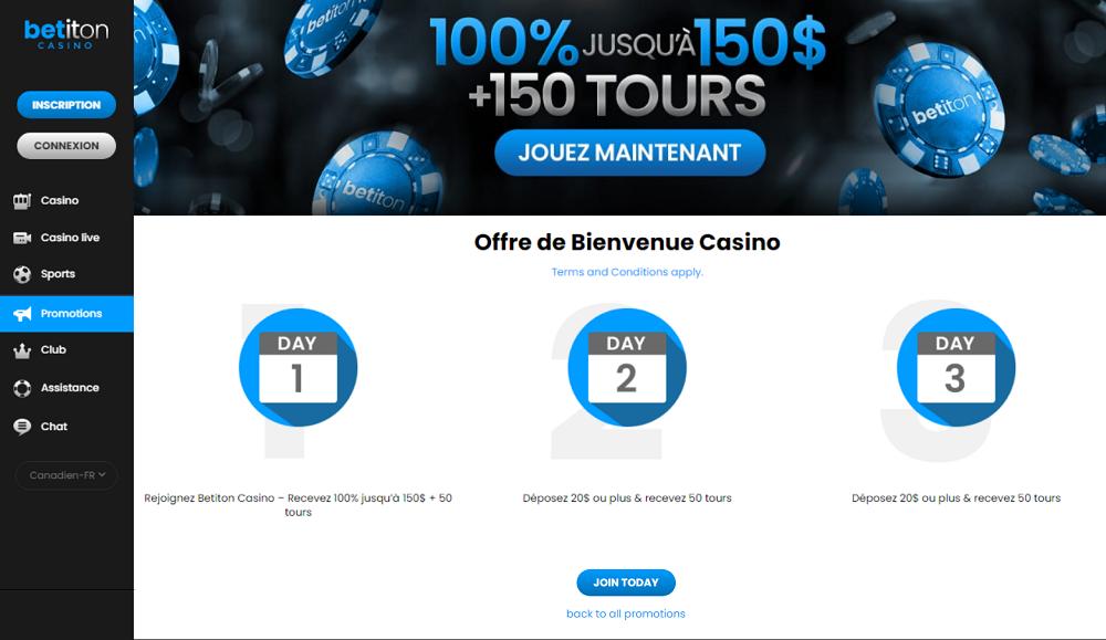 offres de bienvenue casino betiton