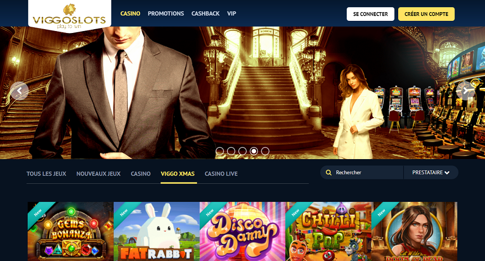 Viggoslots casino accueil