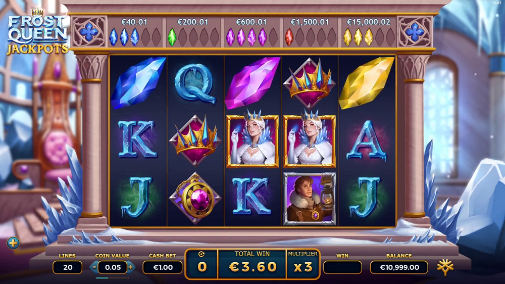Frost Queen Jackpot machine a sous