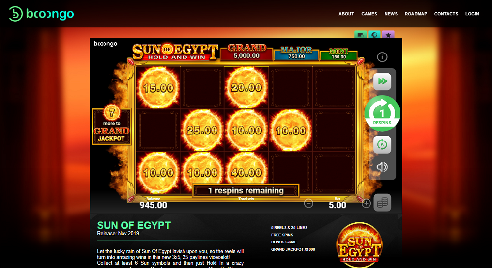 Sun Of Egypt 2 de Booongo sur casino extra