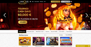 Unique Casino et ses quatre machines à sous les plus populaires