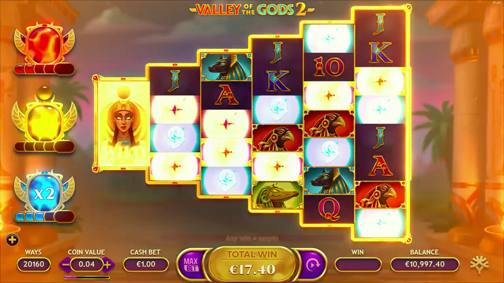 Valley of The Gods une grande vedette sur Lucky31