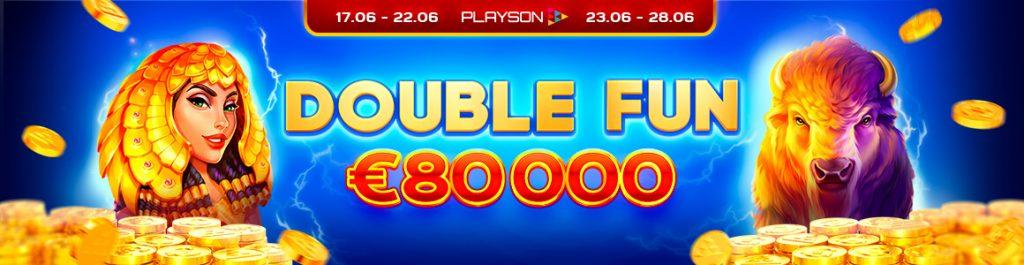 Casino Lucky8 promo Playson Double Fun