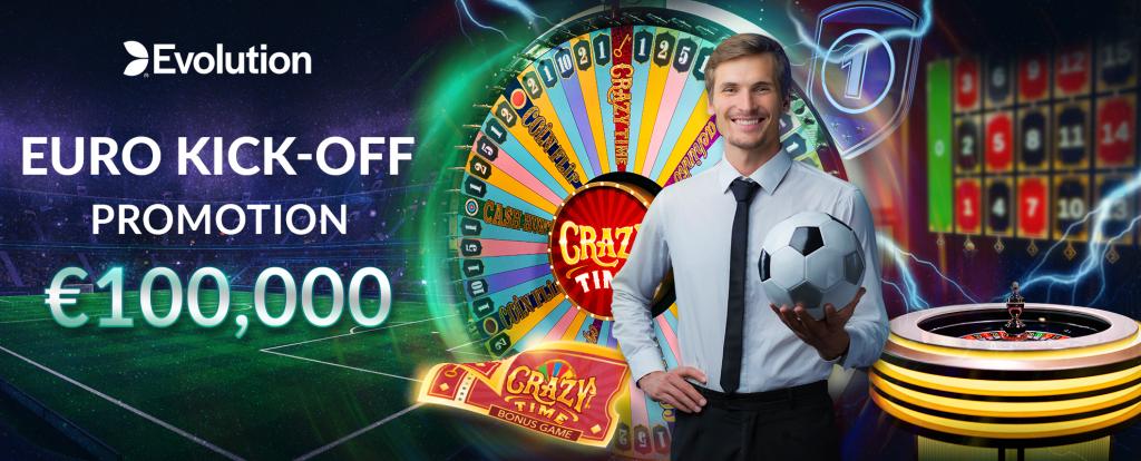 Cresus Casino la promotion Euro-Kick Off de Evolution Gaming