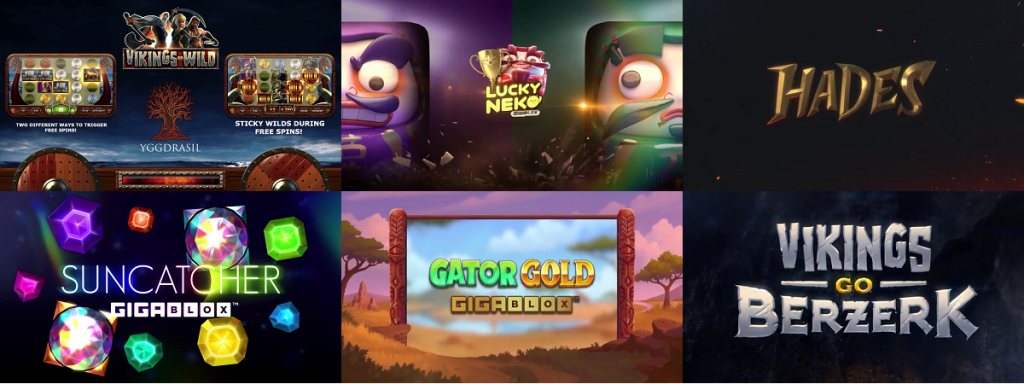 jeux proposés pour la promo