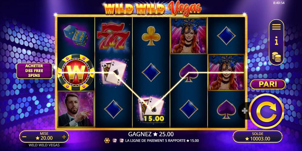 Comment jouer sur Wild Wild Vegas