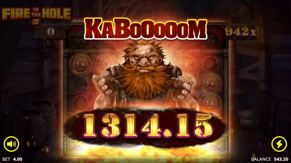 symboles aux valeurs élevées Kaboooom