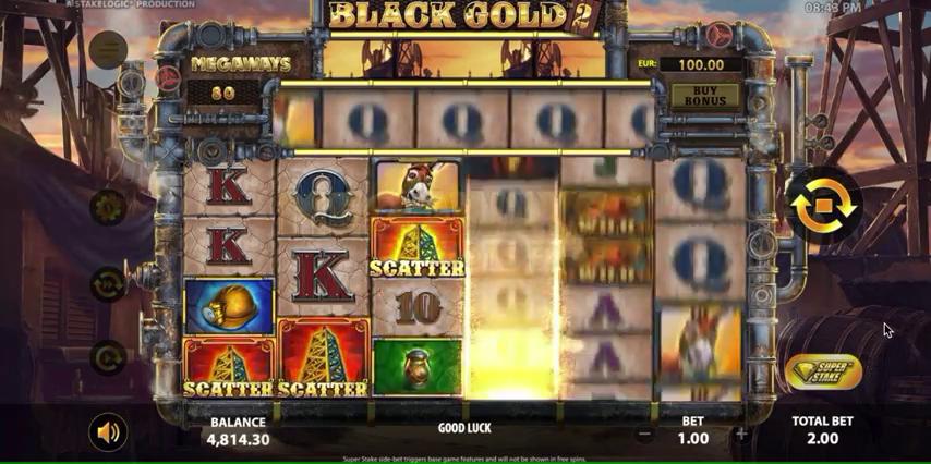 Black Gold 2 Megaways fonctionnalites