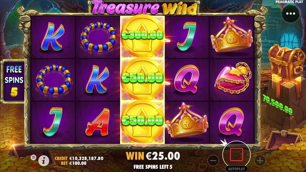 Chances de gains treasure wild