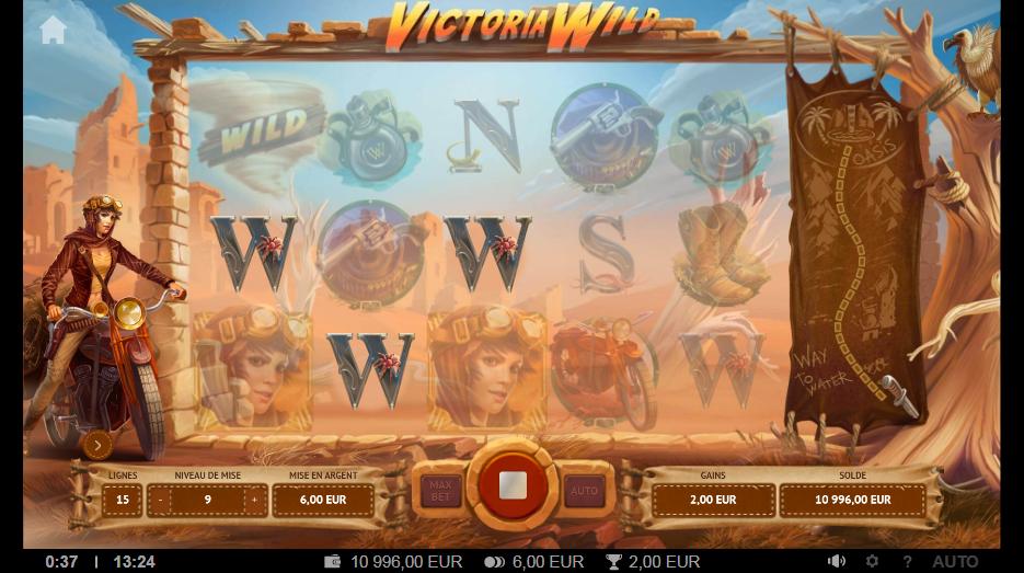 machine à sous Victoria Wild généreuse